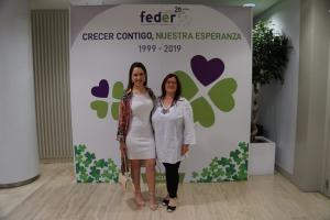 Ainhoa Notario Fernández, coordinadora y representante internacional de AERyOH y Sonia Fernández Serrano, presidenta de AERyOH