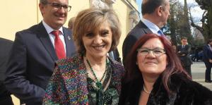 Sonia Fernández Serrano, presidenta de AERyOH con Doña Ma Luisa Carcedo, Ministra de Sanidad de España
