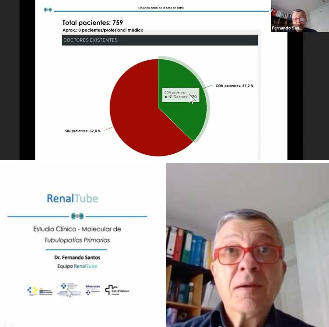 DR. FERNANDO SANTOS RODRÍGUEZ EN SU PONENCIA SOBRE LOS PROYECTOS DE INVESTIGACIÓN A TRAVÉS DE RENALTUBE